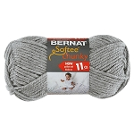 BERNAT SOFTEE CHUNKY,GREY HEATHER