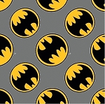 BATMAN LOGO FLANNEL , BY CAMELOT