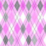 FLANNEL PINK/GREY ARGYLE, BY AE NATHAN