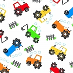 FLANNEL ,HAPPY FOLKS , TRACTORS,  BY AE NATHAN