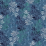 DENIM BLUES, WASHED WATERCOLOR LEAVES, BY PAINTBRUSH STUDIO
