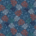 DENIM BLUES,DARK DENIM MULTI LEAVES , BY PAINTBRUSH STUDIO