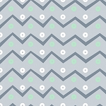 PLAYFUL CUTIES, GREY CHEVRON  FLANNEL,BY 3 WISHES