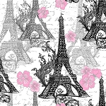 PARIS TRAVEL,EIFEL TOWER, BY QUILTER'S PALETTE