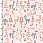 DWELLINGS,DEERS, BY 3 WISHES FABRICS