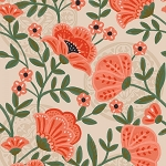 GLORIOUS GARDEN,TAN FLOWERS, BY QUILTER'S PALETTE