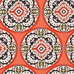 GLORIOUS GARDEN,CORAL TILES, BY QUILTER'S PALETTE