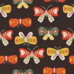 GLORIOUS GARDEN,BROWN BUTTERFLIES, BY QUILTER'S PALETTE