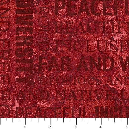 Quilt Patterns For Stonehenge Fabric : Stonehenge OH CANADA 4 ,Glorious & Free Red ,from Northcott Studio