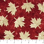STONEHENGE OH CANADA  RED MAPLE LEAF ,from Northcott Studio
