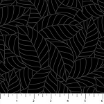 SIMPLY NEUTRAL  BLACK  LARGE  LEAVES , BY NORTHCOTT