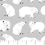 POLAR HUGS,WHITE BEARS ALLOVER , BY NORTHCOTT