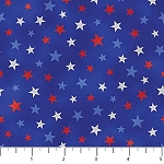 ALL STAR HOCKEY, MULTI  STARS ON BLUE, BY NORTHCOTT