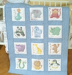 CHILDRENS ZOO, QUILT BLOCK SET , BY JACK DEMPSEY NEEDLE ART