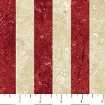Stonehenge OH CANADA  Red/Gold Stripe,from Northcott Studio
