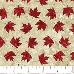 Stonehenge OH CANADA Maple Leaf Allover  ,from Northcott Studio