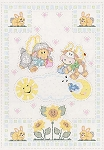 HEAVENLY CREATURES CRIB QUILT TOP , BY JACK DEMPSEY NEEDLE ART