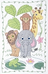JUNGLE CRIB QUILT TOP , BY JACK DEMPSEY NEEDLE ART