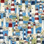HARBOR LIGHTSBLUE PACKED LIGHTHOUSES,, BY WILMINGTON