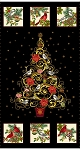 CHRISTMAS JOY, CHRISTMAS TREE PANEL W/ METALLIC, BY STUDIO E
