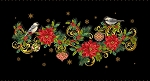 CHRISTMAS JOY, TABLE RUNNER PANEL W/ METALLIC, BY STUDIO E