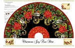 CHRISTMAS JOY,TREE SKIRT  PANEL W/ METALLIC, BY STUDIO E