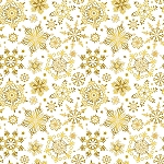 CHRISTMAS JOY,CREAM CHRISTMAS SNOWFLAKES, W/ METALLIC, BY STUDIO E
