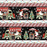 YULETIDE CHEER, BORDER STRIPE, BY STUDIO E