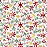 YULETIDE CHEER, WHITE SNOWFLAKES  BY STUDIO E