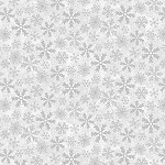 YULETIDE CHEER, GREY SNOWFLAKES  BY STUDIO E
