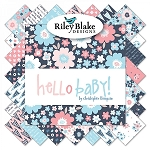 5'' SQUARES, HELLO BABY ,BY RILEY BLAKE