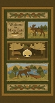 MOOSE LAKE, BROWN/MULTI PANEL,BY BENARTEX