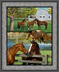 WILD WINGS SUMMER HORSE PANEL,BY SPRINGS