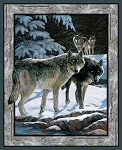 WILD WINGS SILVER SHADOWS WOLF PANEL,BY SPRINGS