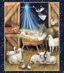 CHRISTMAS NATIVITY BARN PANEL, BY SPRING CREATIVE