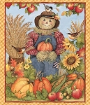 HARVEST SCARECROW  PANEL, BY SPRING CREATIVE