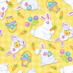 HIPPITY HOP , YELLOW BUNNIES & BASKETS FROM HENRY GLASS