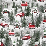 HOLIDAY WISHES,MULTI TRUCKS , BY HENRY GLASS