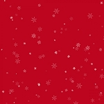 HOLIDAY WISHES,RED TINY SNOWFLAKES, BY HENRY GLASS