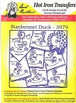 Aunt Martha's Iron On Transfers,SUNBONNET DUCK