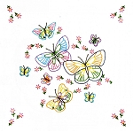 FLUTTERING BUTTERFLIES QUILT BLOCKS , BY JACK DEMPSEY NEEDLE ART