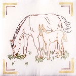 COLT & MARE QUILT BLOCK SET , BY JACK DEMPSEY NEEDLE ART