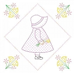 SUNBONNET SUE QUILT BLOCK SET , BY JACK DEMPSEY NEEDLE ART