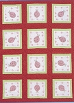 LADYBUG QUILT BLOCK SET , BY JACK DEMPSEY NEEDLE ART