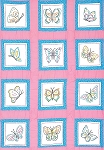 BUTTERFLIES  QUILT BLOCKS , BY JACK DEMPSEY NEEDLE ART