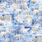 WINTER'S PEARL,ICE BLUE WINTER BEARS,BY KANVAS