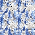 WINTER'S PEARL,ICE BLUE WINTER WOLVES ,BY KANVAS