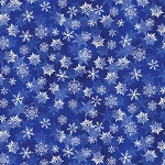 WINTER'S PEARL,COBALT  SNOWFLAKES ,BY KANVAS