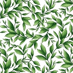 CATALINA , WHITE/GREEN LEAVES,BY MAYWOOD STUDIO