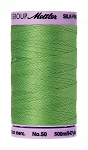 METTLER SILK FINISH 50 WT COTTON, 500M,   BRIGHT MINT